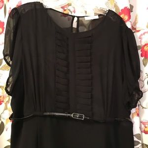 Black cocktail dress with lining